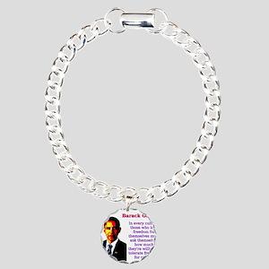 In Every Culture - Barack Obama Charm Bracelet, On
