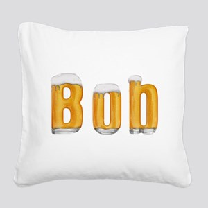 Bob Beer Square Canvas Pillow