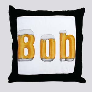Bob Beer Throw Pillow