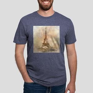 Vintage Paris Mens Tri-blend T-Shirt
