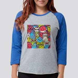 Monsters and Aliens Womens Baseball Tee