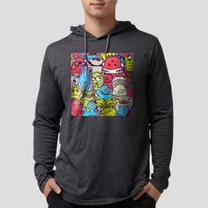 Monsters and Aliens Mens Hooded Shirt