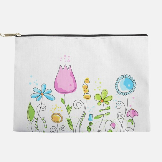 Spring Flowers Makeup Pouch