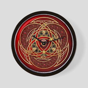 Celtic Medallion - Red Wall Clock