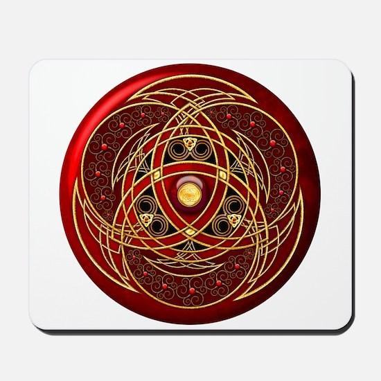 Celtic Medallion - Red Mousepad