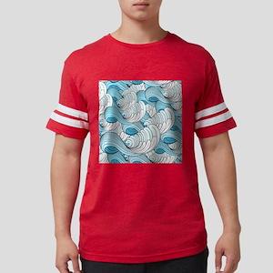 Ocean Waves Mens Football Shirt