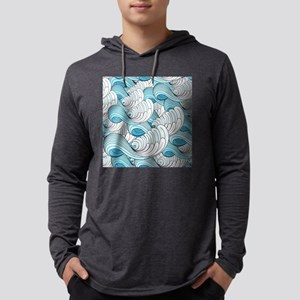 Ocean Waves Mens Hooded Shirt