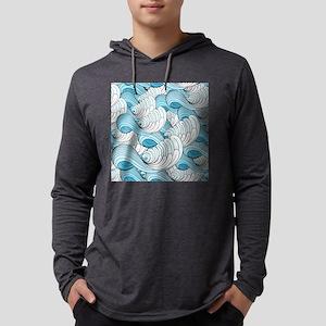 Ocean Waves Mens Hooded Shirt