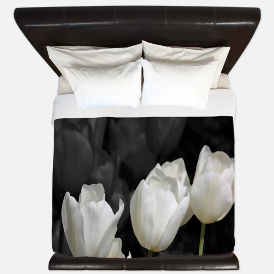 White Tulip King Duvet