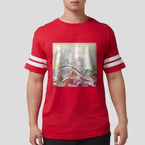 Abstract Floral Mens Football Shirt