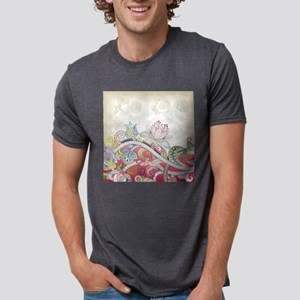 Abstract Floral Mens Tri-blend T-Shirt