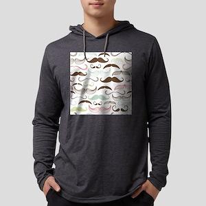 Mustache Pattern Mens Hooded Shirt