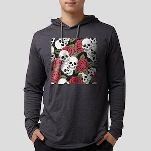 Skulls and Roses Mens Hooded Shirt