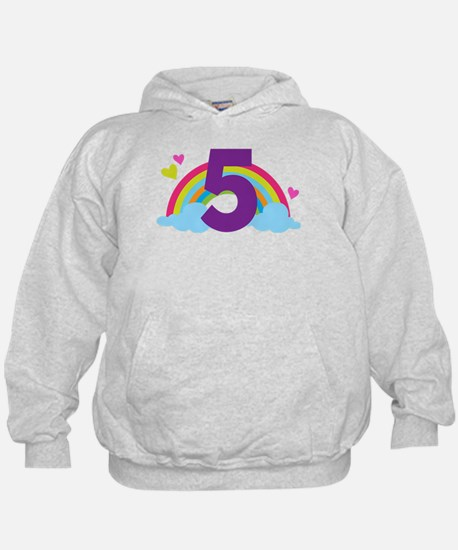 5th Birthday Rainbow Hoodie