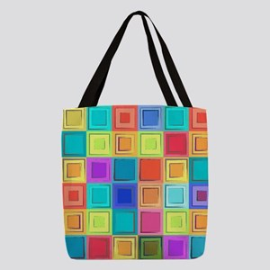 Colorful Retro Polyester Tote Bag