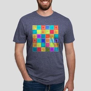 Colorful Retro Mens Tri-blend T-Shirt