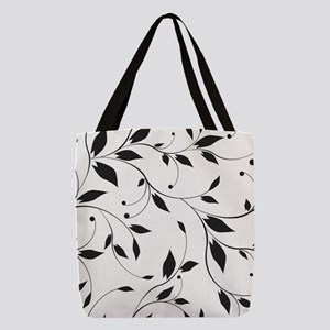 Elegant Leaves Polyester Tote Bag