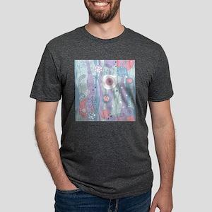 Decorative Pattern Mens Tri-blend T-Shirt