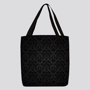 Elegant Black Polyester Tote Bag