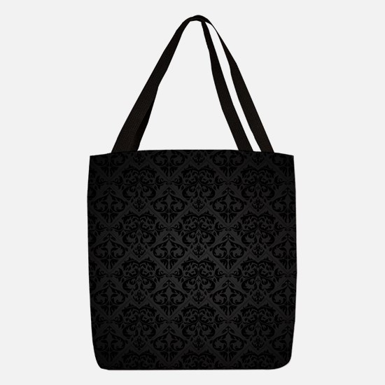 Elegant Black Polyester Tote Bag