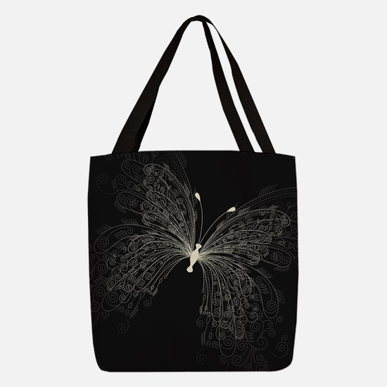 Elegant Butterfly Polyester Tote Bag