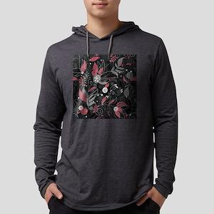 Elegant Leaves Mens Hooded Shirt