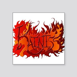 Katniss Everdeen the Name on Fire! Square Sticker