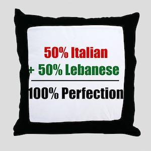 Half Italian, Half Lebanese Throw Pillow