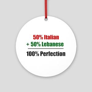 Half Italian, Half Lebanese Keepsake (Round)