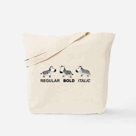 Funny font Tote Bag