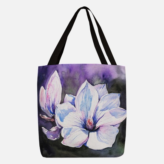 Magnolia Painting Polyester Tote Bag