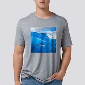 Underwater Shark Mens Tri-blend T-Shirt