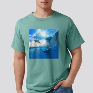 Beautiful Dolphins Mens Comfort Colors Shirt