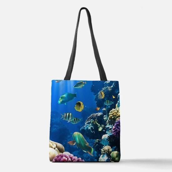 Sea Life Polyester Tote Bag