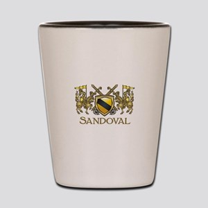Sandoval Coat of Arms Shot Glass