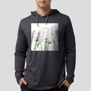 Beautiful Peony Mens Hooded Shirt