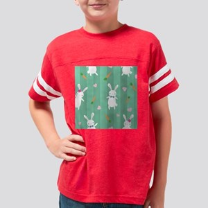 Cute Rabbits Youth Football Shirt