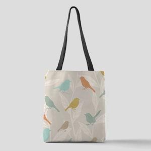 Pretty Birds Polyester Tote Bag