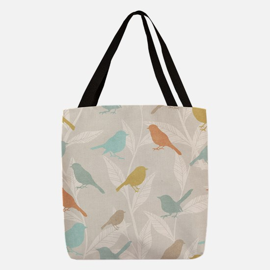 Pretty Birds Polyester Tote Bag
