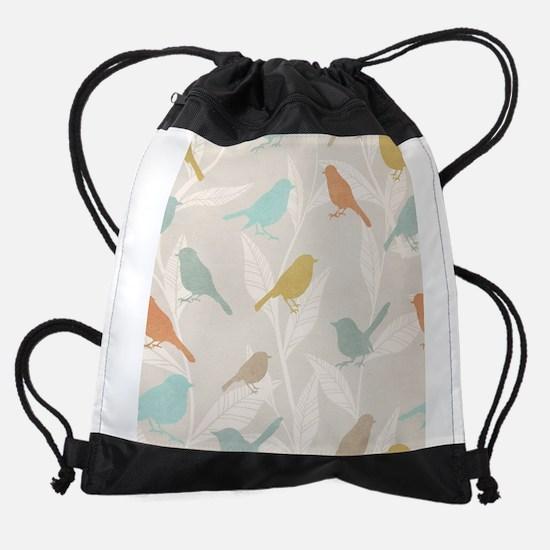 Pretty Birds Drawstring Bag