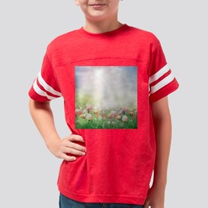 Spring Tulips Youth Football Shirt