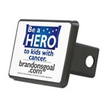 Be a HERO - Square Design Rectangular Hitch Cover