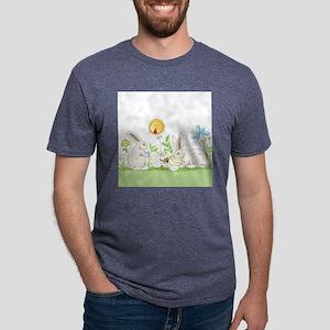 Easter Bunny Mens Tri-blend T-Shirt