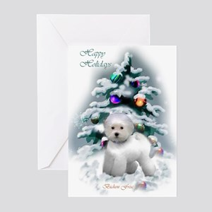 Bichon Frise Christmas Greeting Cards (Pk of 20)