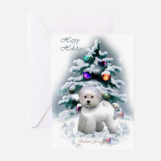 Bichon Frise Christmas Greeting Cards (Pk of 20)