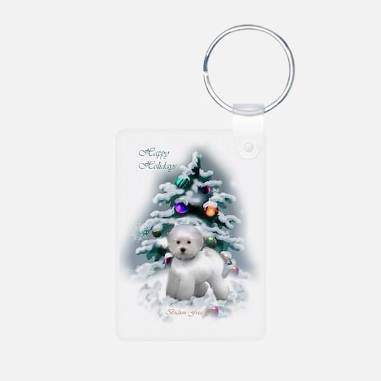 Bichon Frise Christmas Keychains