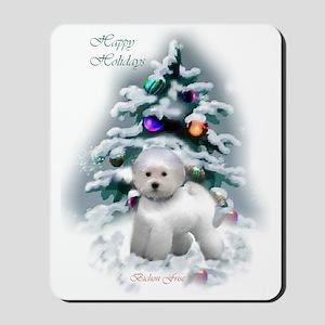 Bichon Frise Christmas Mousepad