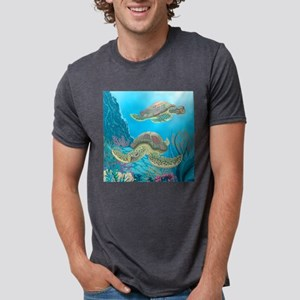 Sea Turtle Mens Tri-blend T-Shirt