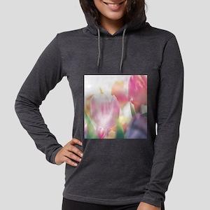 Beautiful Tulips Womens Hooded Shirt