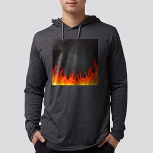 Flames Mens Hooded Shirt